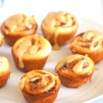Try this cinnamon rolls recipe to yield cute mini buns that are glazed with a creamy coffee icing.