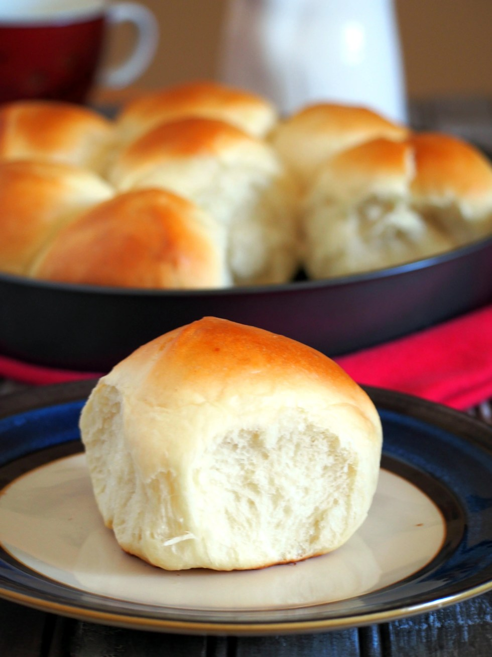 Japanese Milk Buns are known for their distinct, milky taste and their soft, melt in your mouth texture. These soft dinner rolls are perfect with any kind of jam or spread but are delicious on their own.