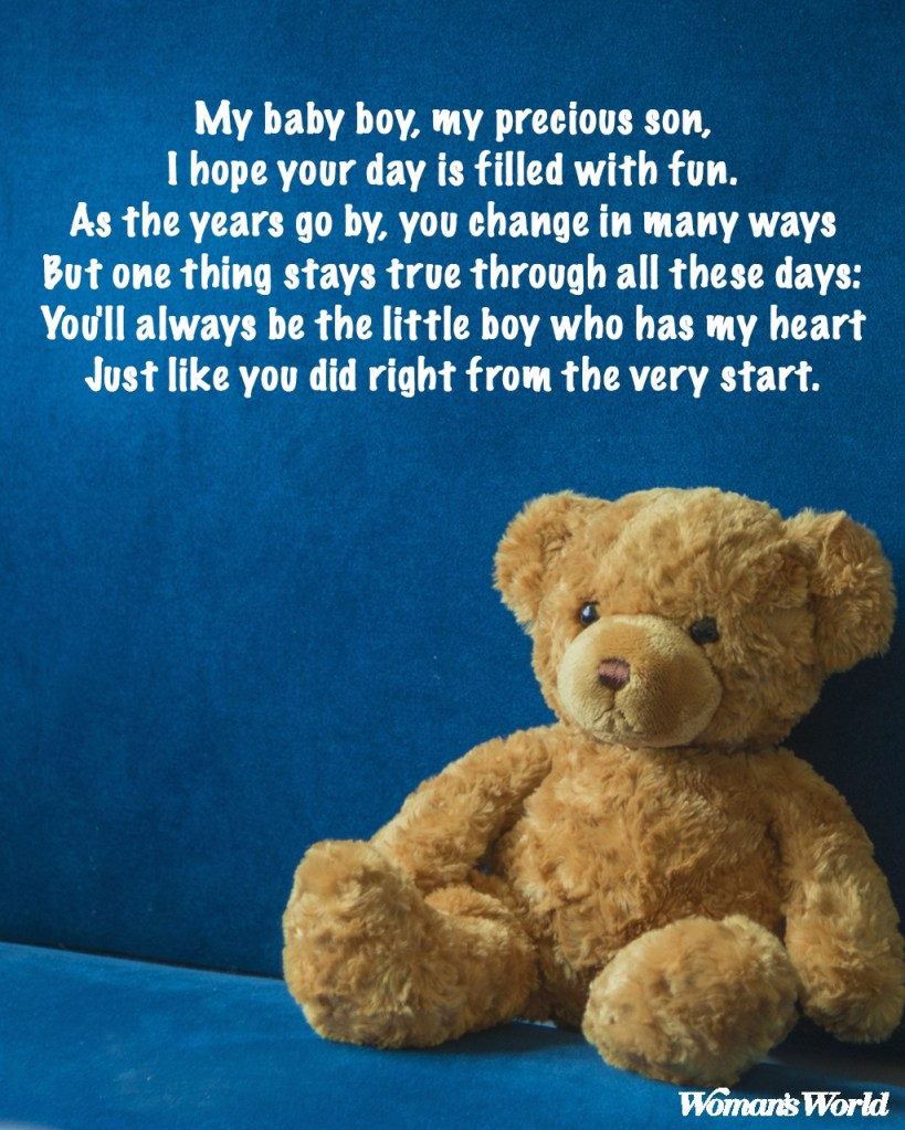 Happy Birthday Son Poems From Mom To Make His Day Special