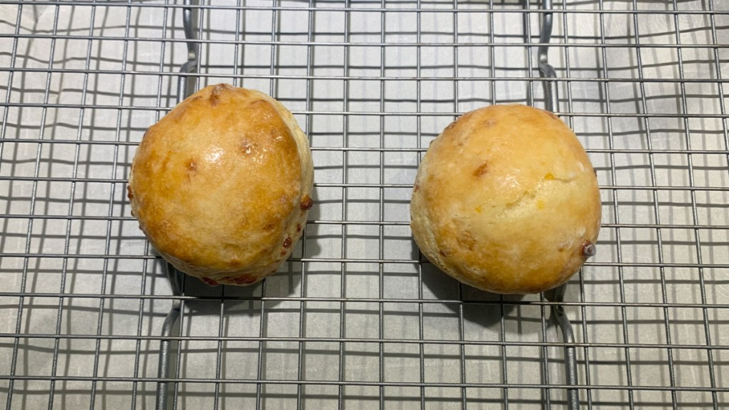 Baked cheddar biscuits