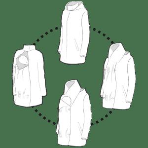 flexible babywearing and pregnancy jacket