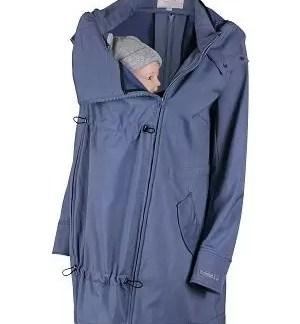 Wombat Shell babywearing softshell light blue