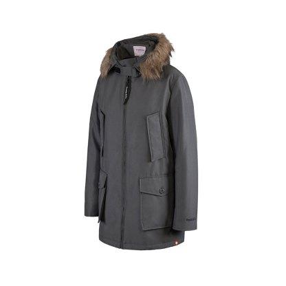 Bandicoot mens babywearing coat grey with collar