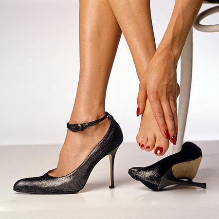 Pijnlijke voeten na dag werken