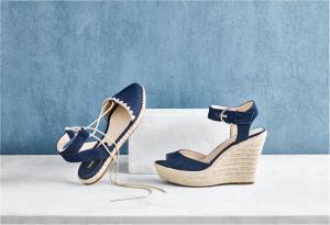 נעלי פלטפורמה כחולות של ניין ווסט