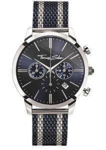 שעון רצועות עור בשילוב גולגולות מכסף טהור של תומס סאבו