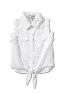 חולצת קשירה לבנה לבנות