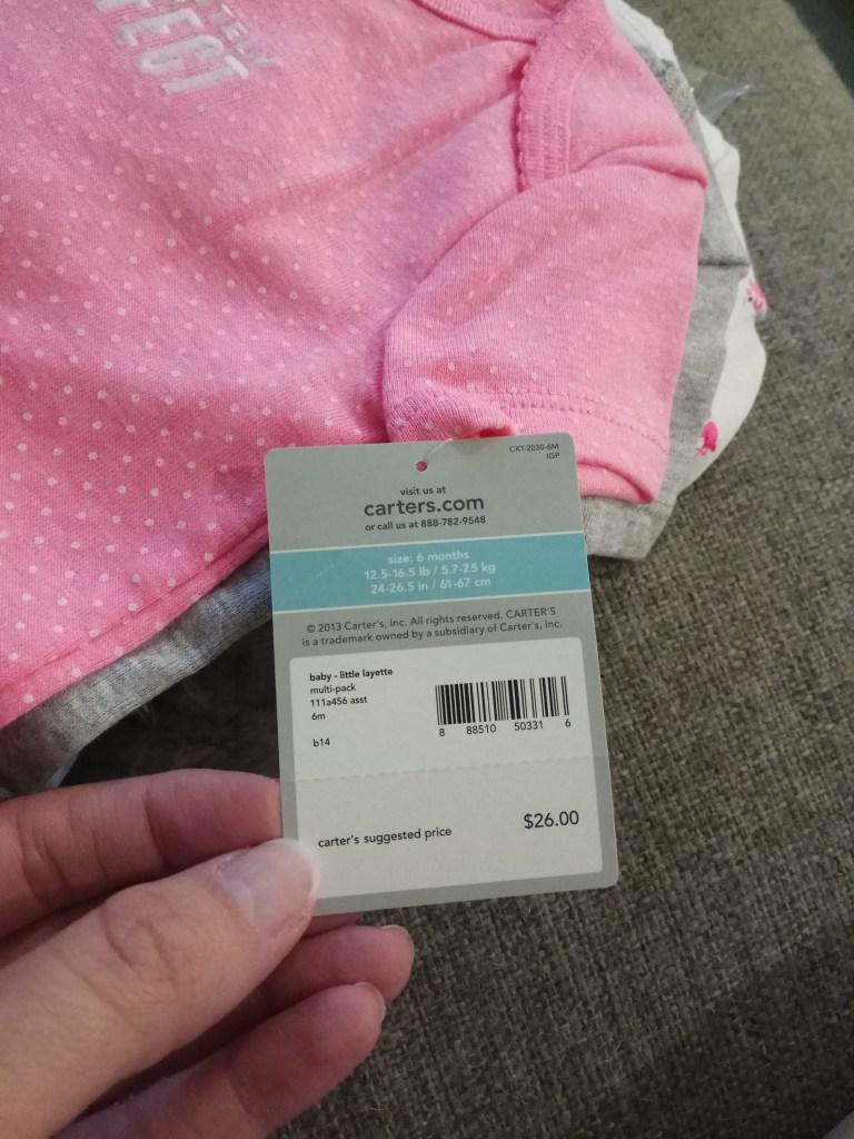 מחיר לחמישיית בגדי גוף של קרטרס