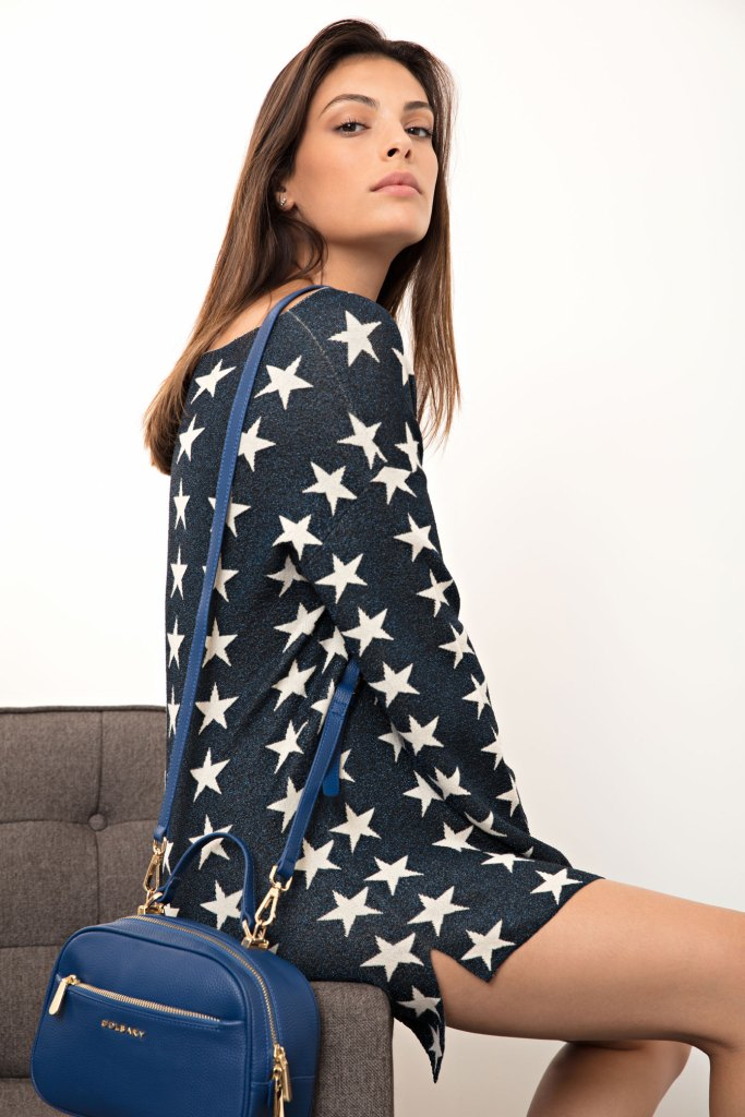 שמלה ותיק מקולקציית חורף 2018 של גולברי