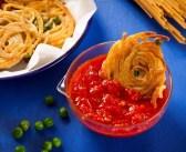 לביבות ספגטי עם אפונה וגבינה