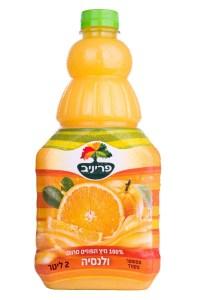מיץ תפוזים ולנסיה 100 אחוז טבעי פריני