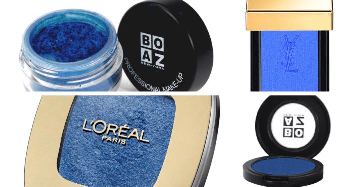 מוצרים לאיפור עיניים בגוון כחול אלקטריק