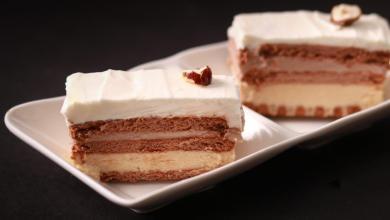 Photo of עוגת גבינה שכבות טבעונית בשלושה טעמים