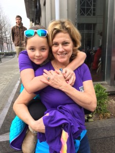 Laura and her daughter braved the foggy, wet weather to march in Raleigh.