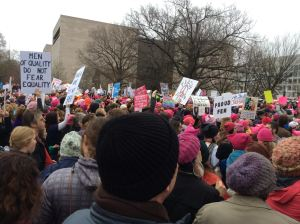 Jean marched with women from all over the country and made new friends on Saturday.