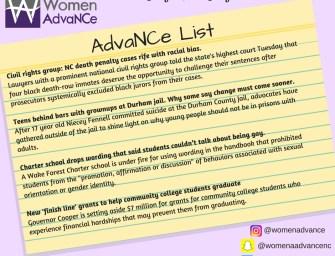 AdvaNCe List July 12-18