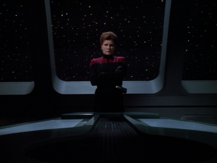 "Janeway in ""Living Witness"""