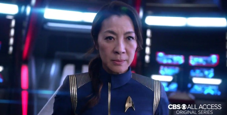 Michelle Yeoh as Captain Georgiou looking fierce!