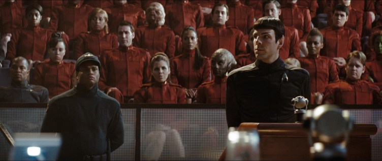 Spock in front of cadets in Star Trek (2009)