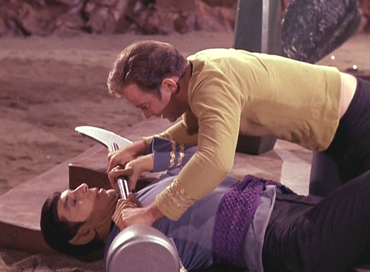 "Kirk duels with Spock in ""Amok Time"""