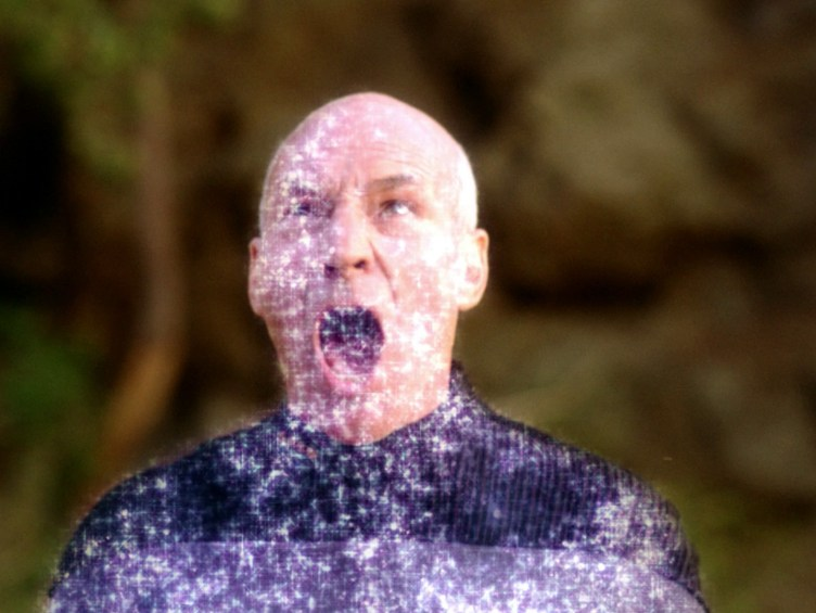 Picard angry at dematerializing