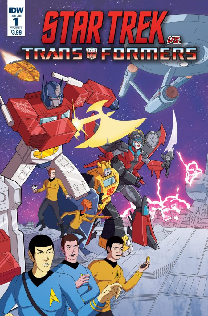Cover of Star Trek/Transformers #1