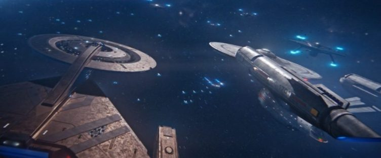 Discovery and Enterprise surrounded by Section 31 ships