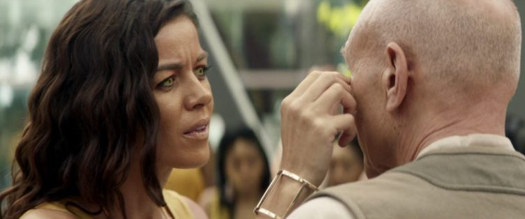 Arcana touches Picard's face