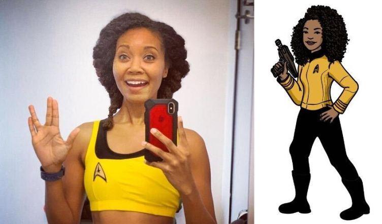 Aliza photo next to Trek avatar