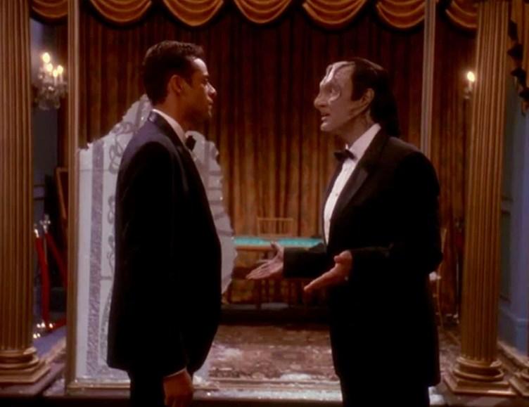 Garak and Julian in tuxedos
