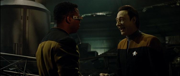 Geordi and Data in Star Trek: Generations