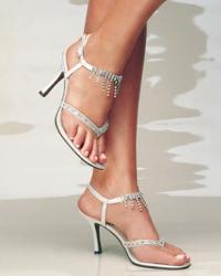 модные свадебные туфли 2010