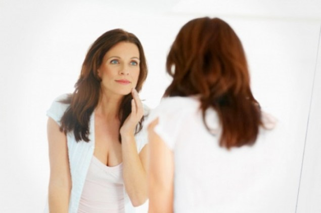 Image result for female model aging mirror