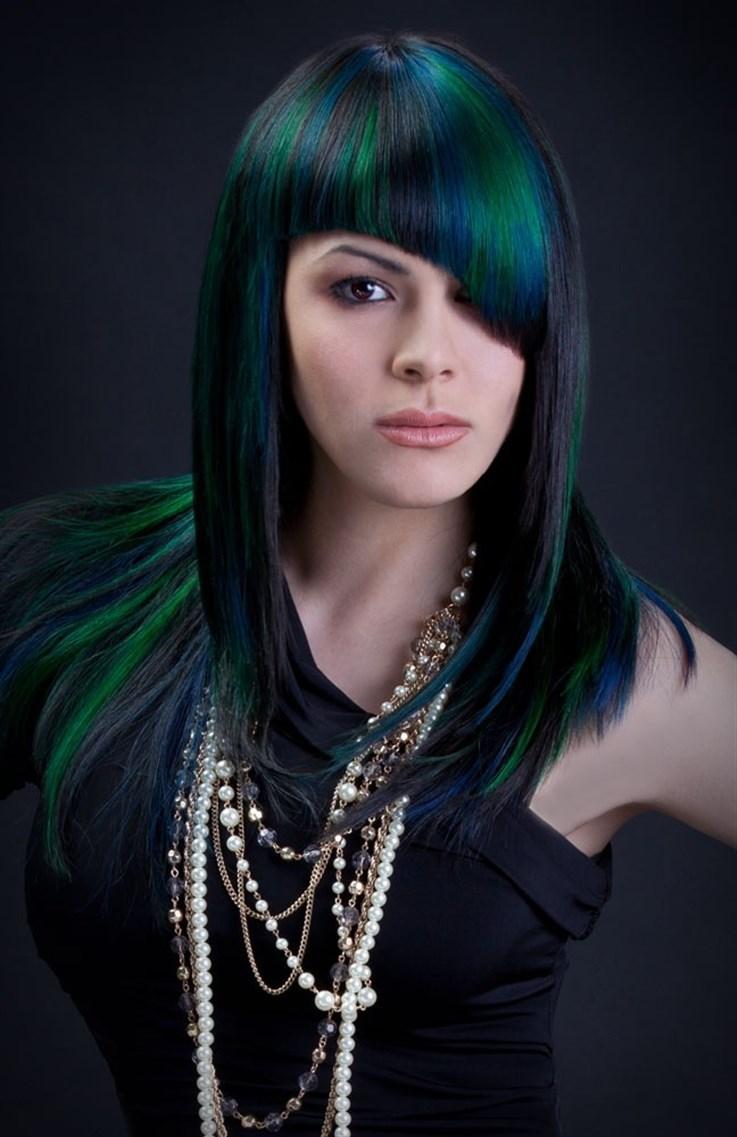Rainbow Colored Hair Emo