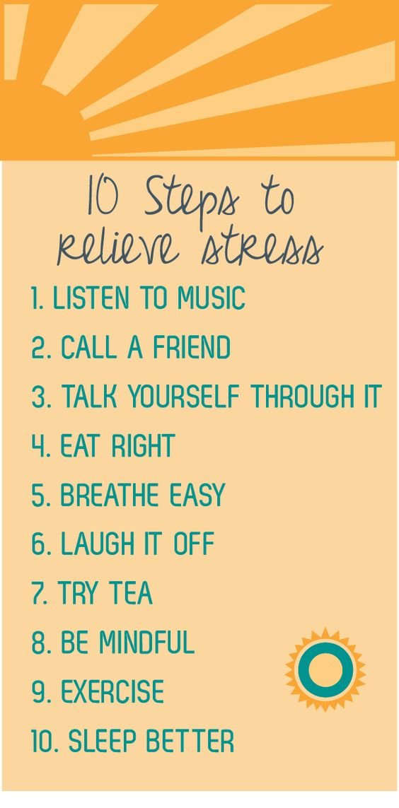 steps to relieve stress