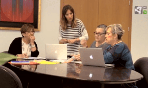 Discussion on women's inequality in the workplace in 'On the road with science'
