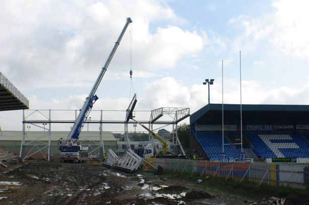 Starting work on the new 30m stand