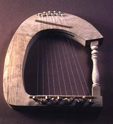 Replica of an ancient harp