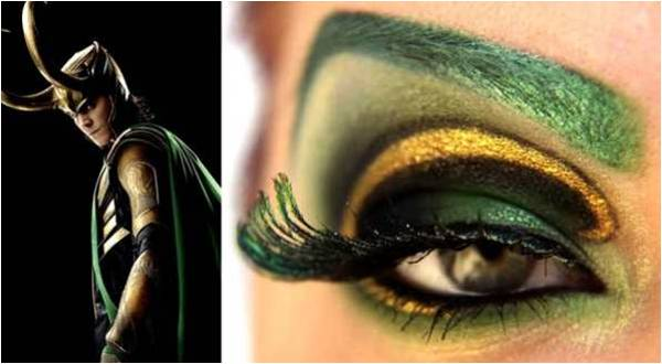 yeshadow inspired by Loki from Avengers