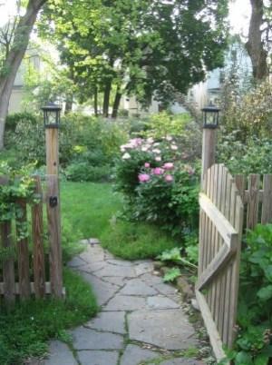 Beautiful flower garden entrance