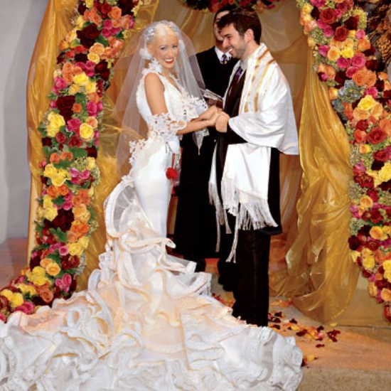 Christina Aguilera's wedding dress