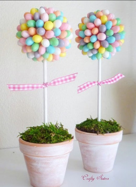 Easter topiaries craft