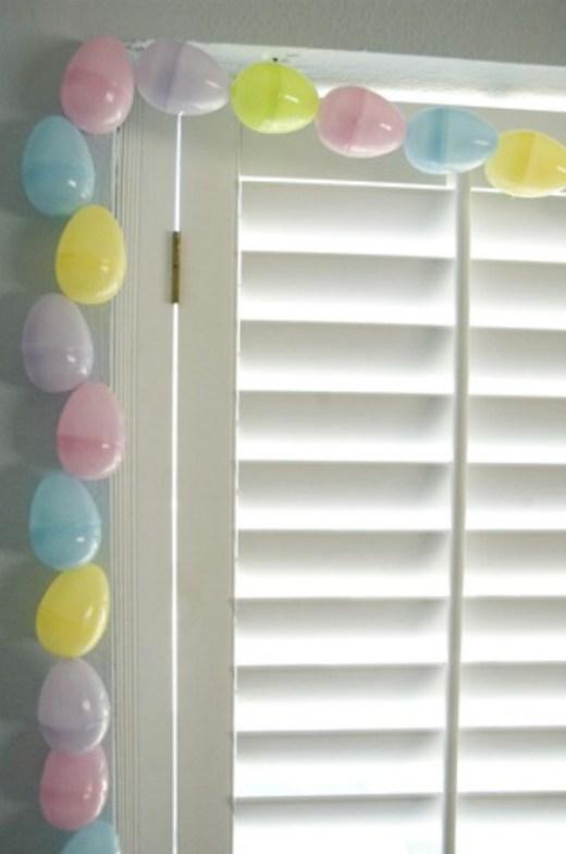DIY easter egg garland craft