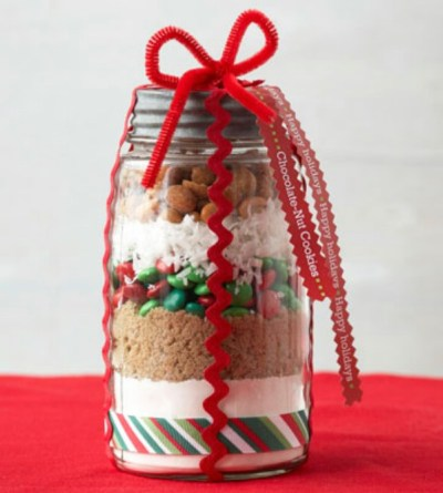 Gifts in a jar cookies