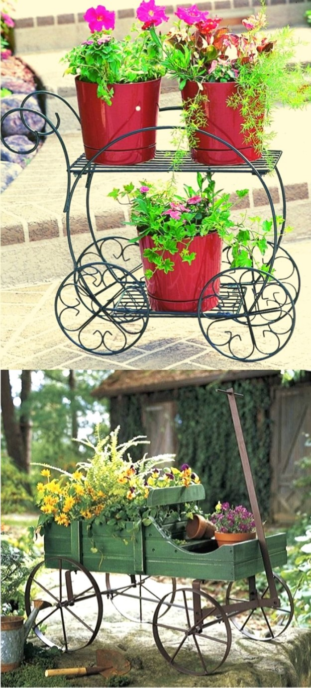 Cute Spring garden plant stands