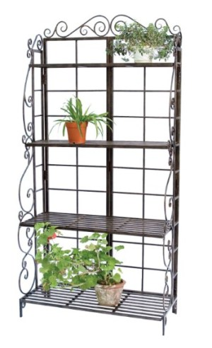 Bakers rack flower and plant stand