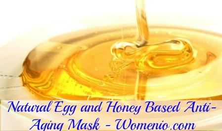 Egg honey revitalizing facial mask