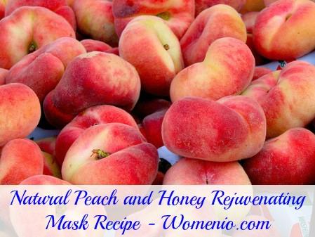 Natural peach and honey mask recipe