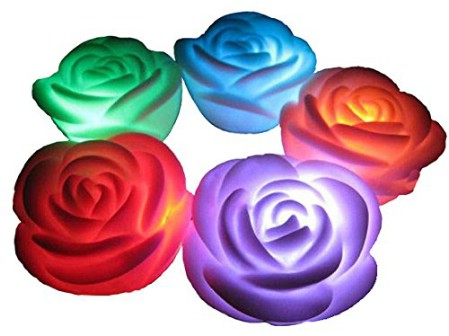Flameless Rose Candles