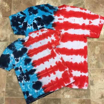 patriot 4th July tie dye design